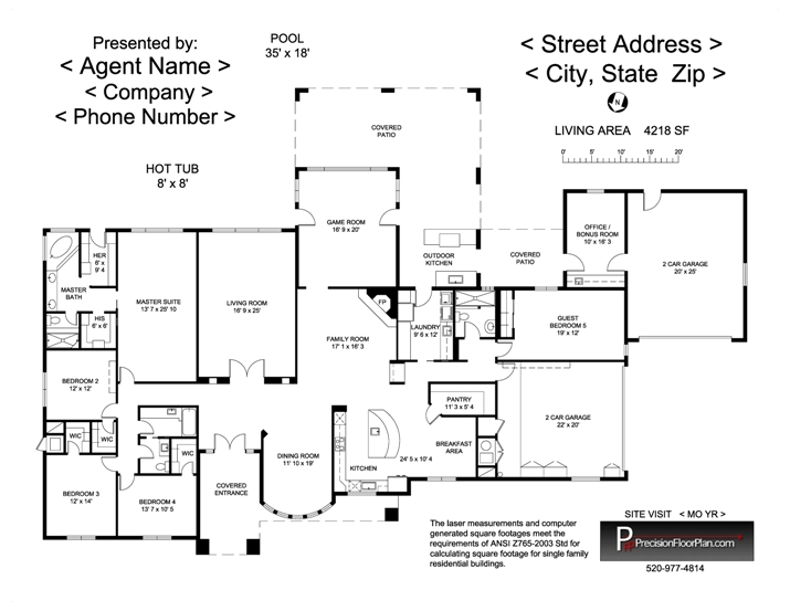 Residential precision floor plan for Residential building floor plan